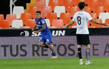 Juan Camilo 'Cucho' Hernández anotó su primer gol con el Getafe ante Valencia, en la última jornada de LaLiga.