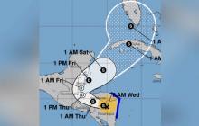 Eta se debilita a tormenta tropical pero sigue sobre Centroamérica