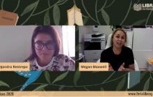 Alejandra Restrepo moderó el encuentro virtual con al escritora Megan Maxwell.
