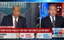 """Cadenas de noticias en EE.UU. cortaron discurso de Trump por """"falsedades"""""""