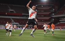 Rafael Santos Borré anotó el gol en la caída 3-1 de River Plate ante Banfield.