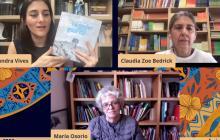 Las editoras durante su charla de ayer en el panel virtual de la Feria del Libro.
