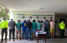 Capturan a diez de la banda 'Los Relámpagos' en San Juan del Cesar