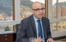 El presidente del Banco Agrario, Francisco Mejía.