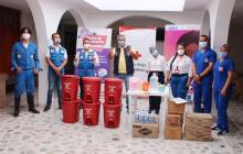 Donan las primeras ayudas para damnificados de las lluvias en Sucre