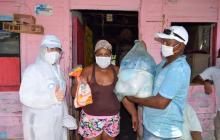Llegaron las primeras ayudas a Bocacerrada, San Onofre