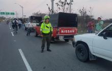 Policía de Tránsito realiza controles al transporte informal