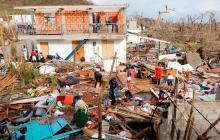 Aspecto de los daños registrados en la isla de Providencia luego del paso del huracán Iota.