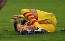 Piqué padece una lesión parcial del ligamento cruzado anterior de la rodilla