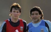 Lionel Messi y Diego Maradona estuvieron juntos en la Selección Argentina, con 'Pelusa' como entrenador.