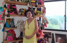 Yamelis Molina es artesana y representante legal de la Asociación Artesanas de Chorrera, en el Atlántico.