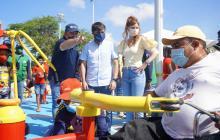 En video | El Edén, primer parque con gimnasio para personas con discapacidad