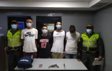 Policía captura a cuatro jóvenes tras atraco en el barrio Boston