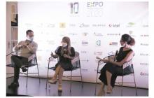 Ricardo Plata, secretario de Desarrollo Económico del Distrito, Elsa Noguera, gobernadora del Atlántico y Erika Fontalvo, directora de EL HERALDO.