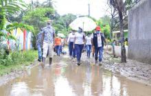 400 afectados en Guachaca por desbordamiento del río