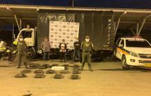 Tres detenidos cuando transportaban 79 kilos de marihuana por Montería