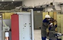 Técnicos de Air-e reparan avería en la subestación Las Flores