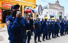 Bomberos de Soledad protestan por presuntas irregularidades