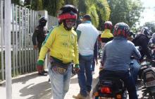 Mototaxistas protestan en Sincelejo por las nuevas medidas de la Alcaldía