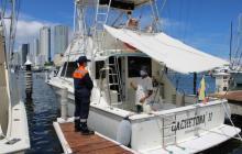 Control a yates y veleros de bandera extranjera que arriben a Cartagena