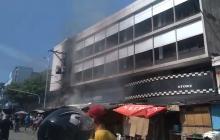 Falla en transformador habría causado incendio en Paseo Bolívar