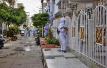 Actividades de prevención, toma de muestras de Covid-19 y un cerco epidemiológico se cumplió la semana pasada en el barro El Campestre de Cartagena.