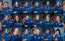 Mosaico de astronautas que participarán en la misión Artemisa.