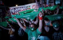 La marea verde celebra el avance de la ley del aborto en Argentina