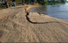 En video | Colapsó kilómetro 2.1 en la vía Salamina - El Piñón