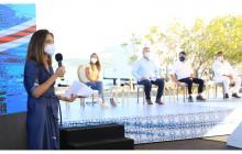 La ministra Orozco durante su participación en el evento en Tubará.