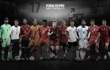 Sergio Ramos, Cristiano Ronaldo y Lionel Messi, en el once ideal del año