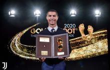 Louis Ducruet fue el encargado de entregar el trofeo a Cristiano Ronaldo.