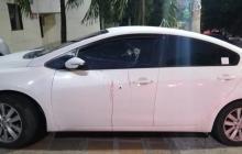 El vehículo en el que se movilizaba la víctima.