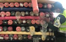 Aprehenden más tela de contrabando en Cartagena