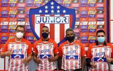 Jhon Jairo Escobar, Luis Amaranto Perea, Víctor Luna y Juan Camilo Quintero.