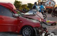 Van 29 muertes por accidentes de tránsito en el Cesar