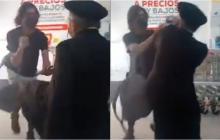 A patadas y puños reaccionó sacerdote cuando le pidieron usar tapabocas
