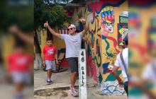 Silvestre Dangond visitó Barrio Abajo