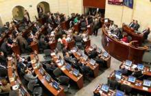 La plenaria en el recinto del Senado de la República.