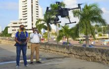 Ecopetrol dona dron para atender emergencias en Cartagena