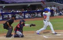 Harold Ramírez, de Caimanes, conectó su primer jonrón de la temporada en el juego ante Tigres.