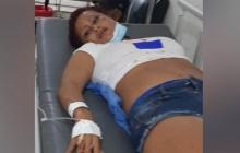 Julieth Paola Tordecilla, la joven que resultó herida en el accidente.