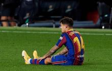 Coutinho sufrió una lesión en el último partido del año ante el Eibar.