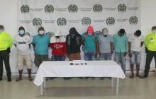 Los presuntos integrantes de la banda criminal.