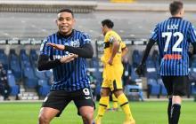 Luis Fernando Muriel celebrando su gol ante el Parma.