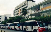 Por la crisis económica se paralizó el transporte urbano en Montería.