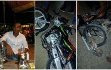 Plateño muere tras choque de motos en vías Córdoba