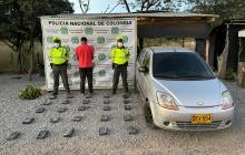 Incautan más de 26 kilos de cocaína en un automóvil en vía de La Guajira