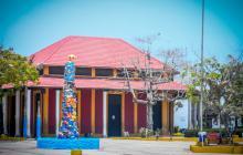 Estación del Ferrocarril ubicada en la plaza del municipio de Puerto Colombia.