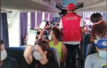La Secretaría del Interior realiza controles para el ingreso de turistas a Playa Blanca cuyo aforo es de 1.000 personas por día.